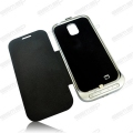 Power bank cover with Leather cover for Samsung Galaxy S4 I9500