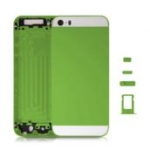 Middle frame with white glass slide key sim holder for Iphone5S