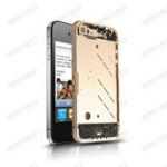 Middle frame for iphone4 with diamont gold