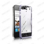 Middle frame for iphone4 with diamond-silver