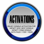 GB-Key Dongle Activation for Infinity Box, BEST Dongle, Infinity CDMA Dongle (with Pack 1 for 1 year)